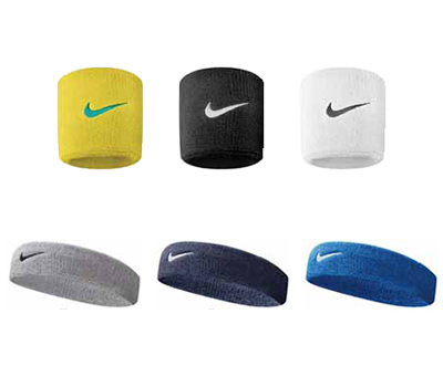 swoosh wristbands hedbands